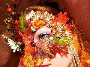 Необычные карнавальные маски с осенней тематикой. Ярмарка Мастеров - ручная работа, handmade.