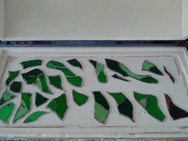 фьюзинг, спеченный витраж, стеклянное панно