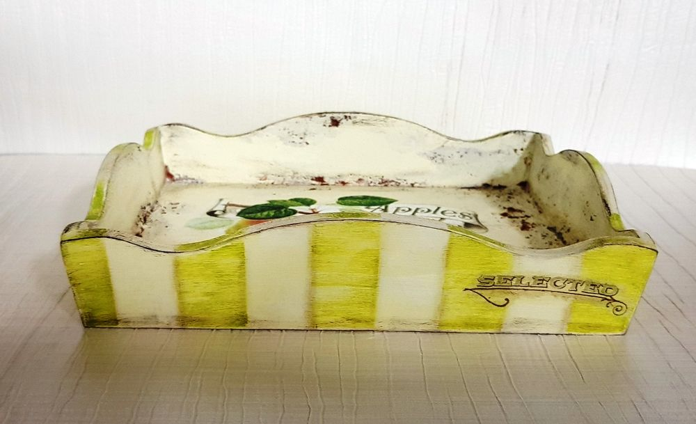 Сухарница со структурными грунтами и полосками. МК подходит для начинающих, фото № 4