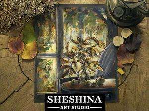 Видео мастер-класс: рисуем осенний натюрморт на фоне окна сухой пастелью. Ярмарка Мастеров - ручная работа, handmade.