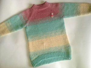 Экспресс мастер-класс по вязанию детского свитера градиентом. Ярмарка Мастеров - ручная работа, handmade.