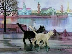 Любовь к кошкам глазами художницы Татьяны Родионовой. Ярмарка Мастеров - ручная работа, handmade.