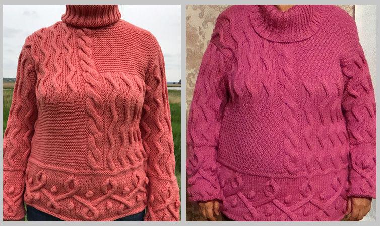 пуловер вязаный, вязаные вещи