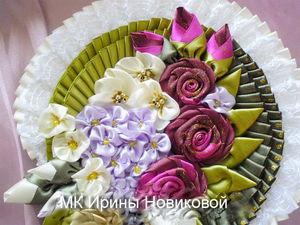 Делаем цветы из атласной ленты | Ярмарка Мастеров - ручная работа, handmade