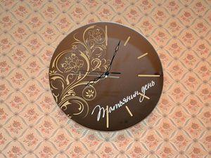 Часы на зеркале Татьянин День   Ярмарка Мастеров - ручная работа, handmade