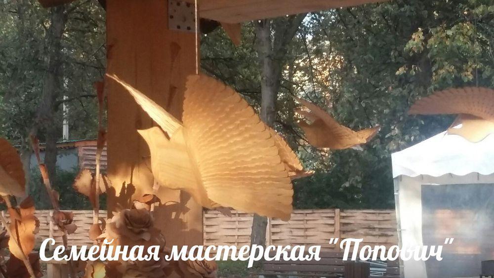 щепная птица, поморский голубок, птица счастья, русский сувенир, русский стиль, деревянный сувенир