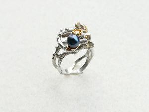 Видео кольца с натуральным жемчугом и цитрином. Серебро 925 пробы. Ярмарка Мастеров - ручная работа, handmade.