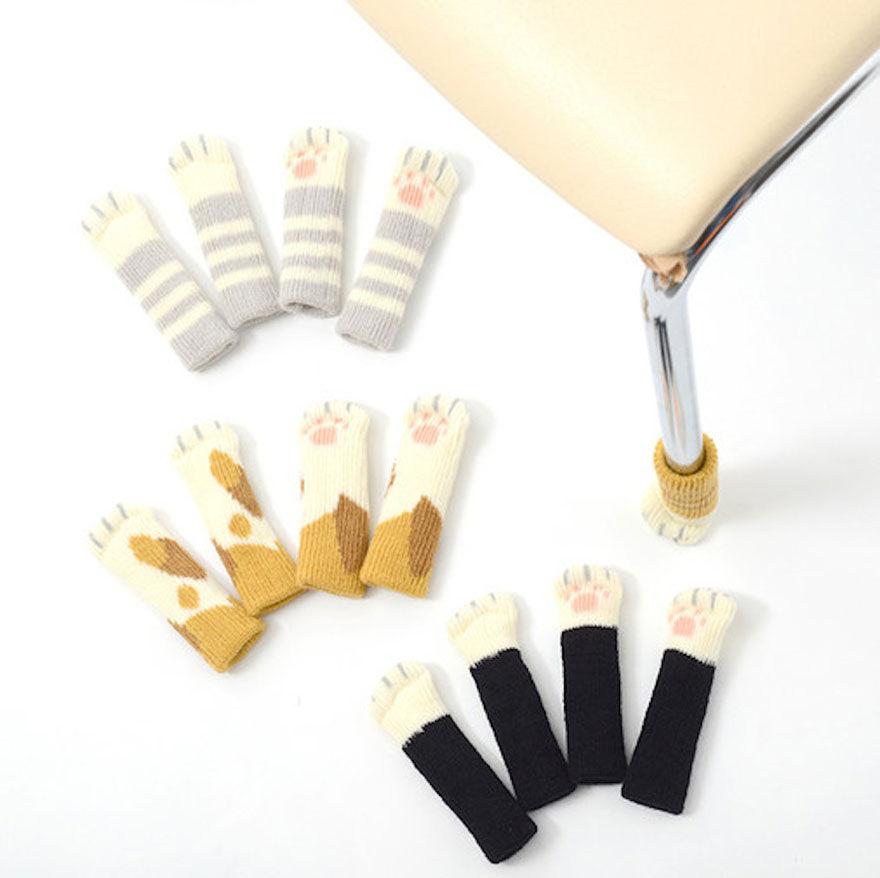 Носочки для ножек стульев и столов своими руками