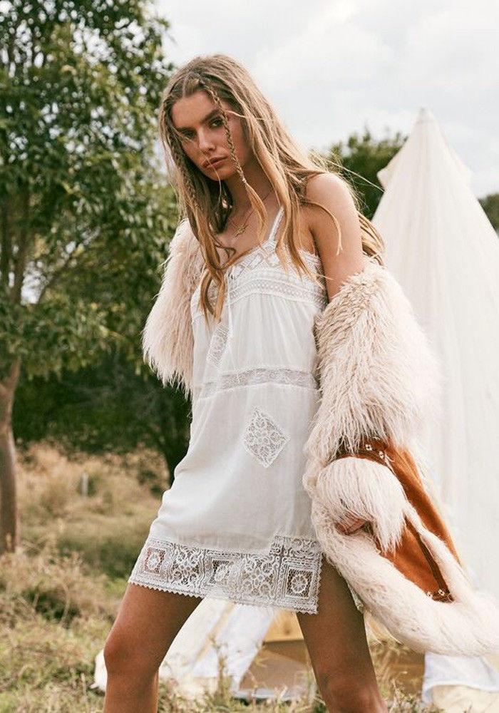 Белое бохо, или Шикарная одежда для королевы летнего пляжа, фото № 119