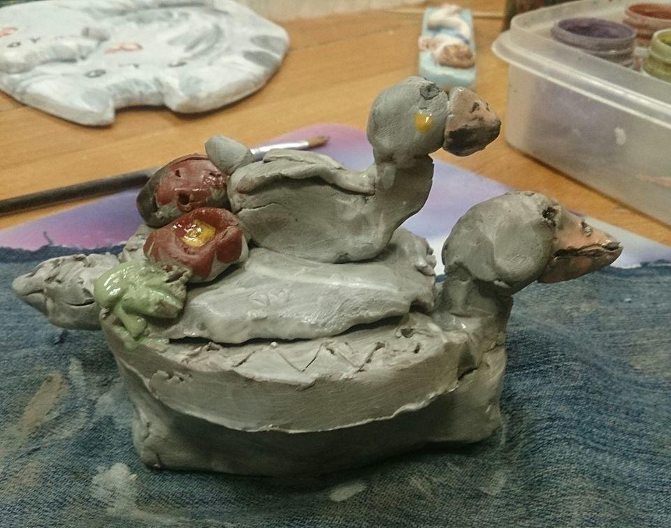 занятия с детьми, природная глина, керамика хенд мейд