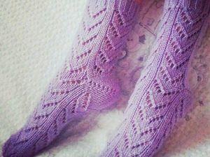 Вяжем спицами ажурные носочки: видеоурок. Ярмарка Мастеров - ручная работа, handmade.