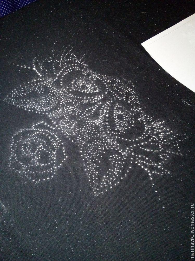Как перенести рисунок на чёрную ткань, фото № 13