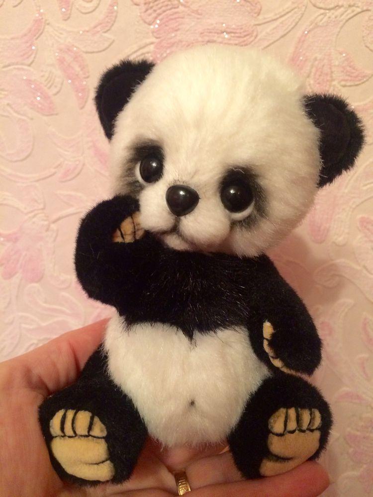 панда, мишка ручной работы, малыш
