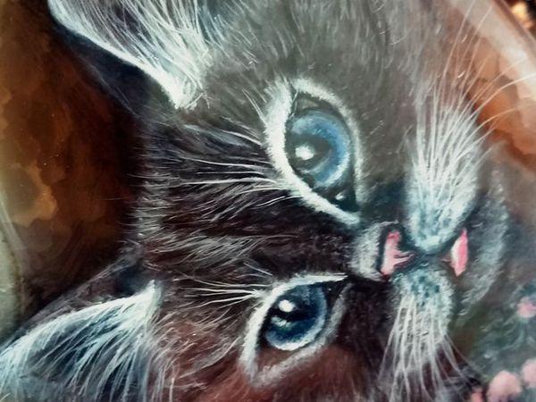 Котики ищут дом;-) новые кулоны с росписью | Ярмарка Мастеров - ручная работа, handmade