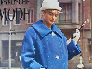 Praktische Mode — старый немецкий журнал мод 9/1960. Ярмарка Мастеров - ручная работа, handmade.