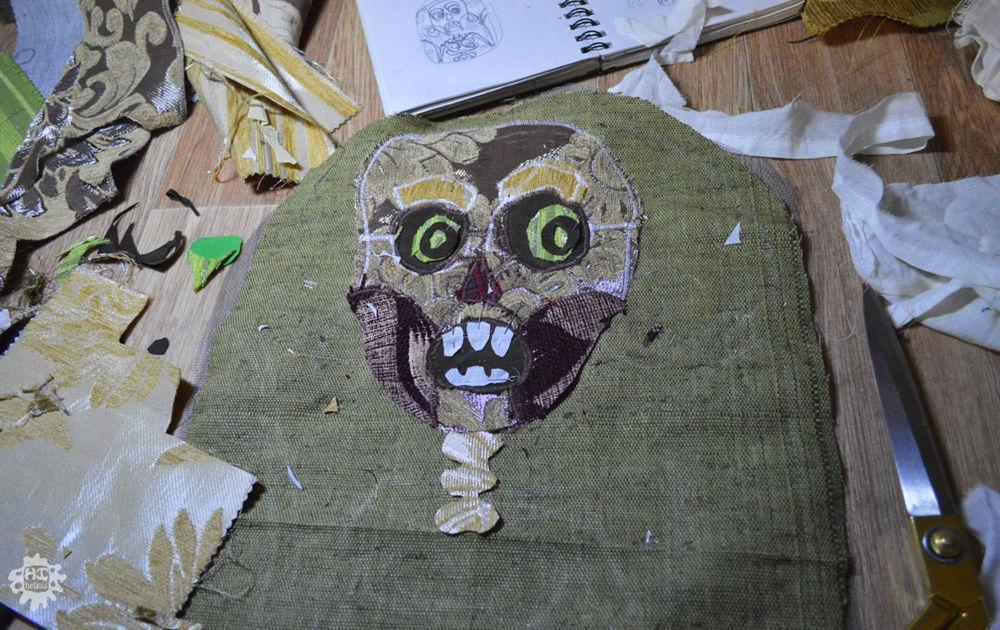 рюкзак, работа в процессе, лоскутный рюкзак, скелет