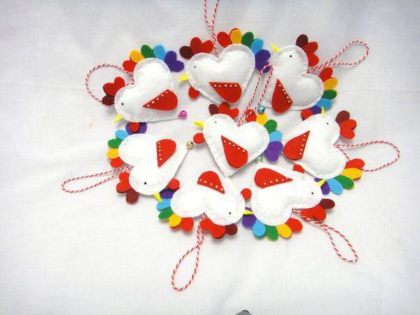 Конфетки 2 шт Елочные игрушки Петухи | Ярмарка Мастеров - ручная работа, handmade
