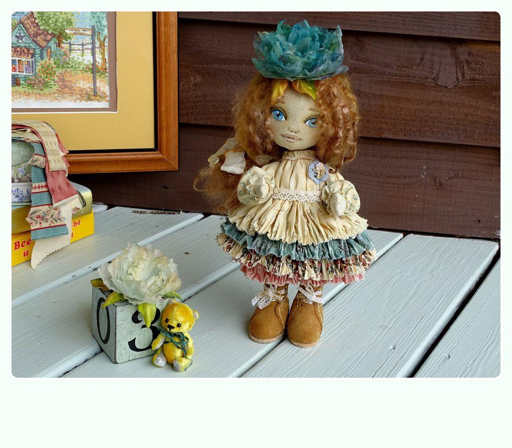 кукла, шебби-шик