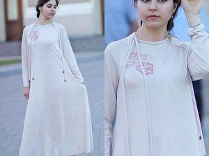 Бежевое Элегантное длинное платье Коктейльное платье Большой размер. Ярмарка Мастеров - ручная работа, handmade.