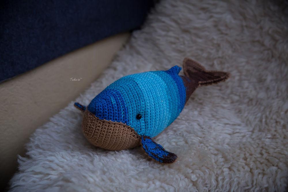 кит, вязаная игрушка, любовь