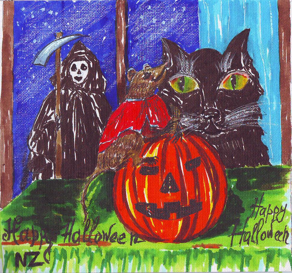 хэллоуин, скетч, иллюстрации, юмор, тыква, halloween, humor, scetch, illustration