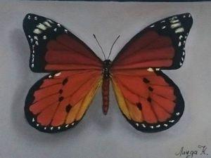 Видео мастер-класс: рисуем бабочку пастелью на наждачной бумаге. Ярмарка Мастеров - ручная работа, handmade.