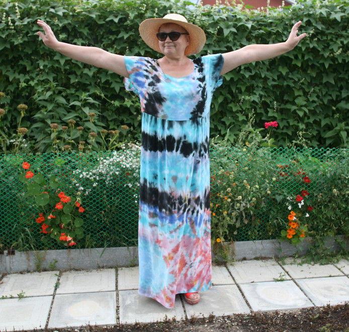 платья батик-шибори