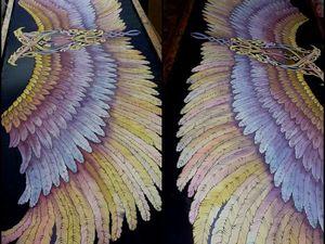 Новинка!Шёлковый палантин батик .Крылья с кельтским мотивом.100% шёлк 192-56с. Ярмарка Мастеров - ручная работа, handmade.