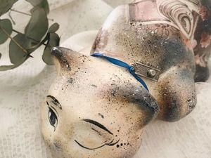 Есть одна свободная керамическая кошечка!. Ярмарка Мастеров - ручная работа, handmade.