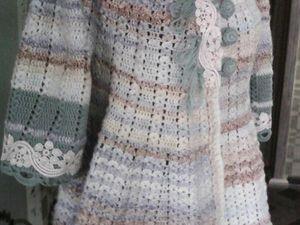 Новинка магазиа. Вязаное крючком пальто  «Цветущая полынь». Ярмарка Мастеров - ручная работа, handmade.