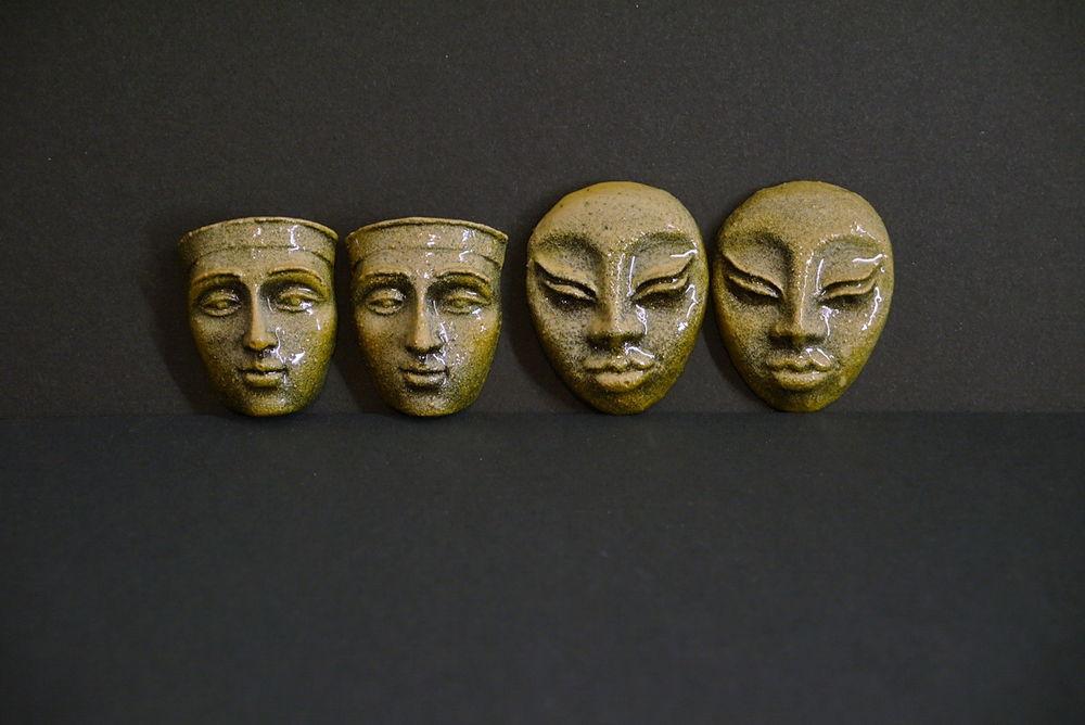 НЕбисерная лавка чудес: Барельефы - лица - маски - кабошоны