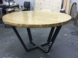 Круглый обеденный стол в стиле лофт. Ярмарка Мастеров - ручная работа, handmade.