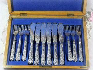 Дополнительные фотографии столовых серебряных приборов. Ярмарка Мастеров - ручная работа, handmade.