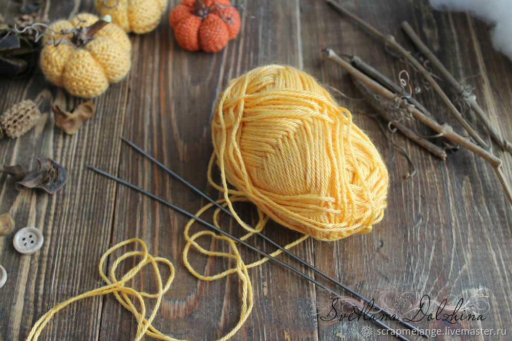 Knitting a Sweet Pumpkin for Halloween Home Decor in 30 Minutes, фото № 1