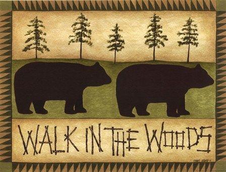 Walk In The Woods by Cindy Shamp art print   Bear & Cabin Decor