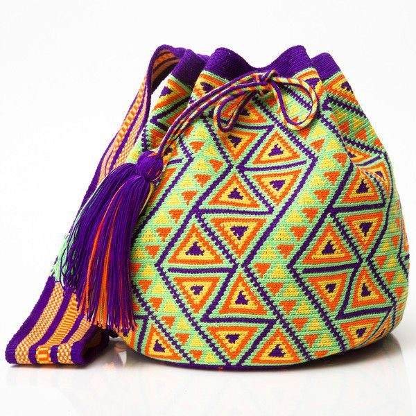 Вязание мексиканских сумок 60