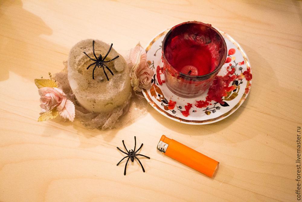 хеллоуин, мастер-класс свечи