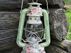 Декор керосиновой лампы