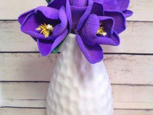Создаем милые крокусы из фоамирана. Ярмарка Мастеров - ручная работа, handmade.