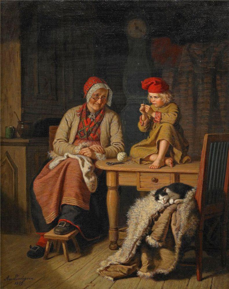Когда есть чем заняться — стареть некогда: душевные картины о бабушках-рукодельницах, фото № 35