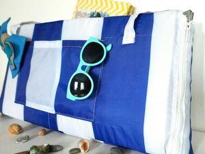 Нужная вещь для пляжа: шьем сумку-коврик. Ярмарка Мастеров - ручная работа, handmade.
