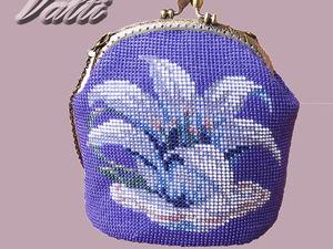 Вяжем бисерную сумочку. Ярмарка Мастеров - ручная работа, handmade.