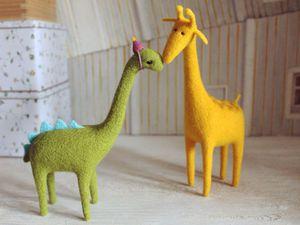 Мастер-класс. Сухое валяние на каркасе. Жираф и динозаврик. Мск | Ярмарка Мастеров - ручная работа, handmade