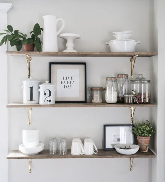 Simple and Budget Ideas for Home: Open Shelves and Ways of Mounting, фото № 3