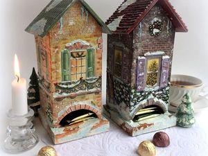 Зимние сказочные чайные домики. Ярмарка Мастеров - ручная работа, handmade.