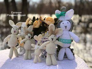Вязаные зайцы для Вари. Ярмарка Мастеров - ручная работа, handmade.