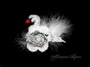Белая лебедушка. Ярмарка Мастеров - ручная работа, handmade.