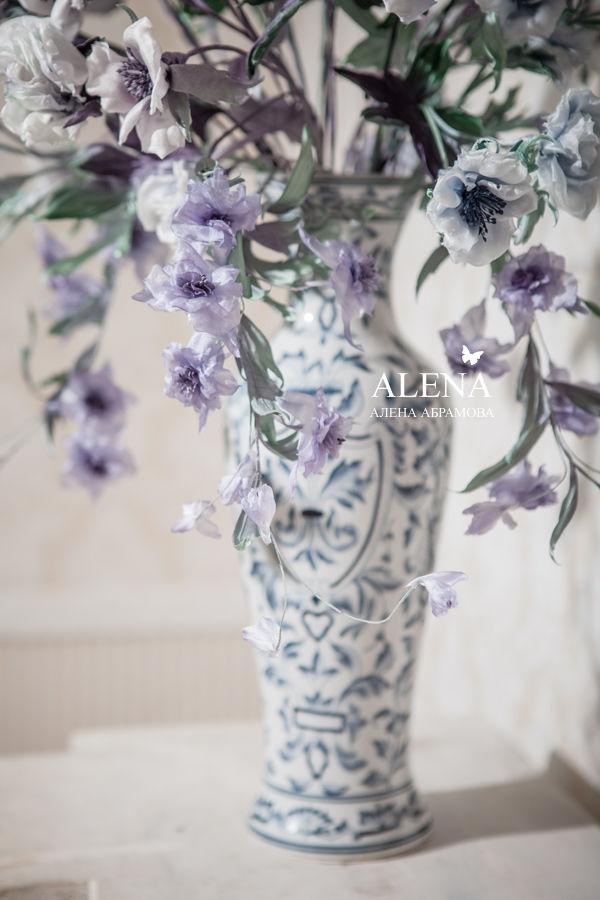 шелковые цветы, рукоделие