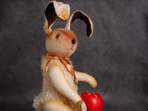 Персик-кролик в стиле тедди. Ярмарка Мастеров - ручная работа, handmade.