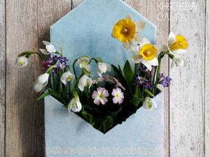 Букет с весенними первоцветами. Ярмарка Мастеров - ручная работа, handmade.